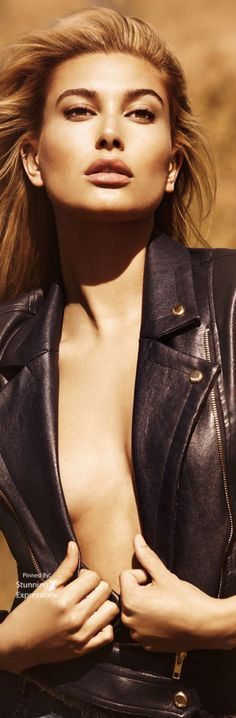 Hailey Baldwin 4 Guess Fall 2016 by francesca-caas Hailey Baldwin, I Love Fashion, Winter Fashion, Vogue, Glamour Magazine, Beauty Shots, Editorial Fashion, Fashion Trends, Leather Fashion