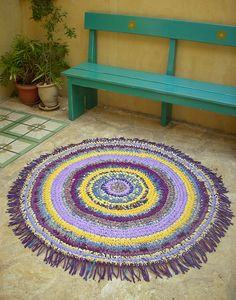 crochet rug....I want to learn!