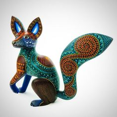 Viva Mexico Fantastic Fox Oaxacan Alebrije Wood Carving Handcrafted Mexican Folk Art Sculpture Painting by Nestor Melchor Fuchs Illustration, Fantastic Fox, Fox Drawing, Foxes Photography, Sculpture Painting, Fox Art, Mexican Folk Art, Wood Carving, Dinosaur Stuffed Animal