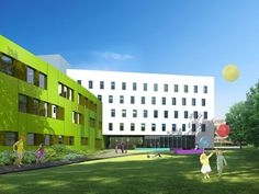 Pediatric Hospital in Kielce, Poland - design by Archimed Architecture, rendering