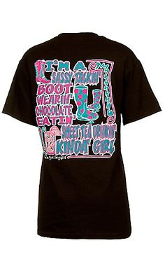 Girlie Girl® Ladies Sassy Talkin' Boot Wearin' Brown Short Sleeve Tee | Cavender's Boot City