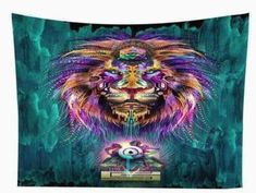 Psychedelic Art Print Tapestry / Wall Hanging
