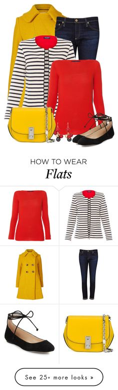 """""""Untitled #6340"""" by cassandra-cafone-wright on Polyvore featuring Orla Kiely, AG Adriano Goldschmied, Saint James, Les Copains, Marc Jacobs, Karl Lagerfeld and Chico's"""