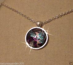 Glass Silver Plated Necklace Pendant Sparkling Nebula Jewelry | eBay