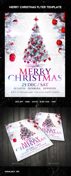Merry Christmas Flyer Template PSD #design Download: http://graphicriver.net/item/merry-christmas-flyer/9683416?ref=ksioks