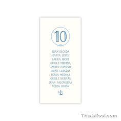 "Lista mesa boda - ""MARINERA"""
