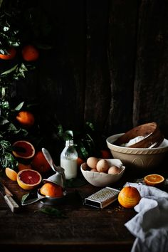 Spelt and orange bundt cake with red grapefruit glaze.