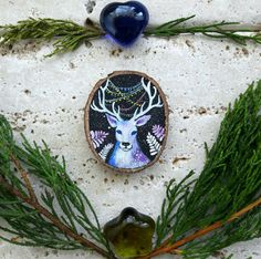 Just listed ❄ Magic Deer  Christmas decoration to hang available now in my shop Etsy  ☆ only two pieces available☆ Enter the christmas code CHRISTMASISCOMING and you'll get 15% off all the items in my store  Have a lovely day everyone . https://www.etsy.com/it/listing/470363464/cervo-magico-animali-del-bosco-natura