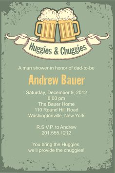 Vintage HUGGIES & CHUGGIES bbq, beer and babies Diaper Party Invitation Printable diy Customizable. $15.00, via Etsy. BOYS Party