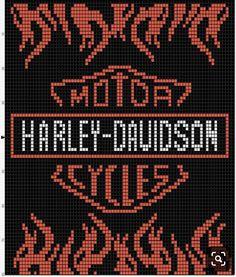 Inspiration Photo of Harley Davidson Crochet Hat Pattern Harley Davidson Crochet Hat Pattern Donnas Crochet Shoppe Boy Crochet Patterns, Graph Crochet, Pony Bead Patterns, Crochet Cross, Quilt Patterns Free, Crochet Hats, Cross Stitch Pattern Maker, Cross Stitch Kits, Cross Stitch Patterns