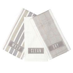 Chalk Cottage Pack of 3 Tea Towels | Dunelm