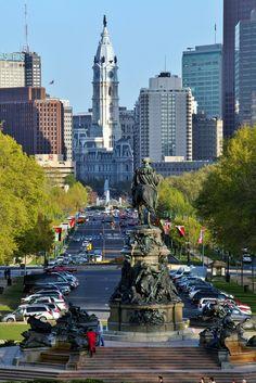 East view of the Ben Franklin Parkway (photo: Darryl Moran) #Philadelphia #Parkway