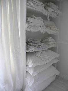 shabby vintage linens