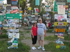 Watkins Lake Canada, Sign Post Forrest, Thousands of signs placed by travelers from everywhere! Pretty Cool