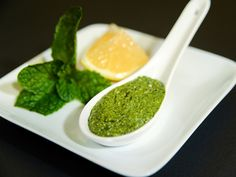 Mint Pesto - use with short/spiral pasta with white beans or chicken ...