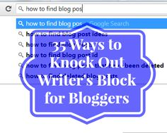 What to blog about; 35 ideas to get you started. #blogging #writersblock