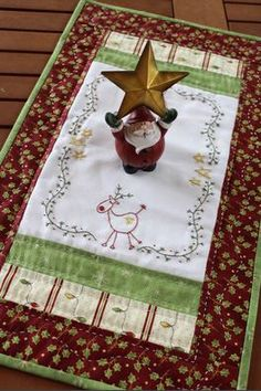 All Around the Reindeer - Gail Pan Designs - Christmas Pattern Quilted Christmas Ornaments, Christmas Sewing, Christmas Fabric, Christmas Crafts, Christmas Quilting, Snowman Crafts, Christmas Angels, Christmas Makes, Country Christmas
