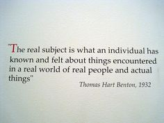 Quote-Thomas Hart Benton