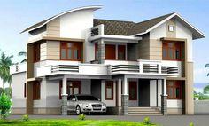 2400 square feet 4 bedroom modern mix house design by Design net, Vatakara, Kozhikkode, Kerala Architect Design House, Bungalow House Design, Classic House Design, Modern House Design, Indian House Plans, Beautiful House Plans, Beautiful Homes, Modern House Facades, Kerala House Design