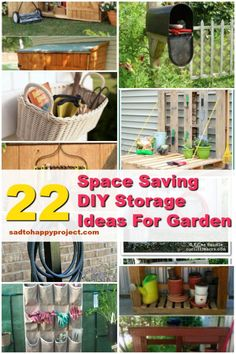 DIY Clever Space-Saving Solutions and Storage Ideas For Garden  .  .  .  .  #diy ##handmade #homemade #craft #diyideas #diycraft #diyproject #diyprojectides #handmadecrafts