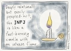 I found an INFJ article generator! What a wonderfully specific gift on the Internet. Here are some of my favorite posts that it linked me to. 1| These spot-on cartoon descriptions of INFJ life b…