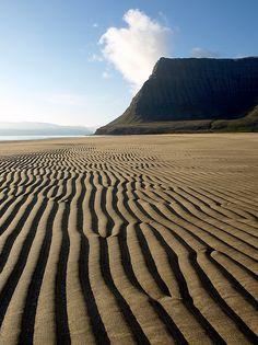 Dunes of Hvesta beach, Arnarfjörður