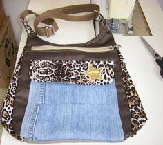 Cuando se quiere...Se puede!!! Nunca pensé hacer bolsos, pero he aquí una de mis creaciones...
