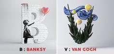 Cet alphabet insolite rend hommage à 26 styles d'artistes célèbres