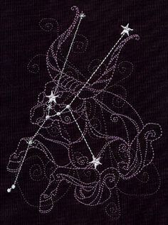 Ecliptic Constellations - Taurus design (UT5610) from UrbanThreads.com