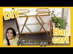 Cómo hacer un CARRITO BAR de lujo / DIY BAR CART MAKEOVER / El Blog De Nelu - YouTube Diy Bar Cart, Diy Y Manualidades, Youtube, Blog, Diy Bar, How To Make, Blogging, Youtubers, Youtube Movies