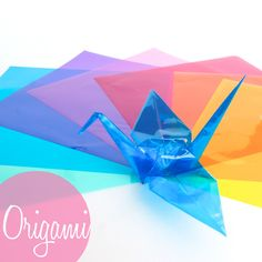 if I did origami I would want this gorgeous clear/plastic/cellophaney type