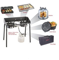 NEW Camp Chef Explorer 2 Burner Outdoor Camping Modular Cooking Stove Electric Camping Stove, Best Camping Stove, Camping Bbq, Outdoor Camping, Camping Gear, Camping Coffee, Camping Chairs, Camping Equipment, Backpacking