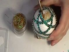 Hobbies And Games Key: 3553237986 Sequin Ornaments, Quilted Ornaments, Holiday Ornaments, Christmas Balls, Christmas Crafts, List Of Tools, Ornaments Design, Egg Decorating, Diy Kits