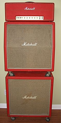 Early 70's red Marshall stack