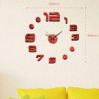 Nalepovacie nástenné hodiny, MPM 3776,20, 60cm Black Dots, Black Silver, Diy Clock, Cladding