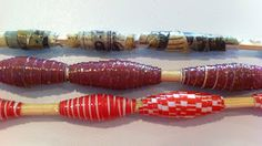 Paper, glue, skewers...Voilà! Paper beads!
