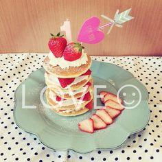 可愛いバースデーケーキの作り方① パンケーキタワー♡