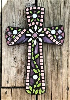 Your place to buy and sell all things handmade Mosaic Artwork, Mosaic Wall, Mosaic Glass, Mosaic Crosses, Wall Crosses, Cross Canvas Paintings, Hand Painted Crosses, Stain Glass Cross, Cross Love