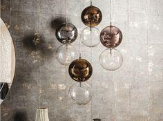 Lampada a sospensione in vetro borosilicato APOLLO by Cattelan Italia design Oriano Favaretto