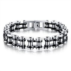Motocross Stainless Steel Chain Bracelet