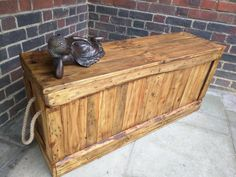 Slimline Rustic Storage Bench Handcrafted from Reclaimed wood by TimberWolfFurniture on Etsy