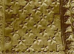 Csillagok a Rosslyn-kápolna mennyezetén • Five-pointed stars on the ceiling of Rosslyn Chapel