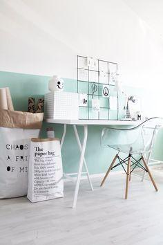 Workspace Ikea mint White