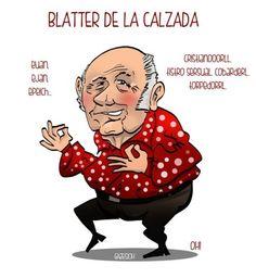 Blatter de la Calzada, el humorista de moda.