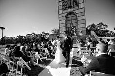 Saturday July 2011 – Beautiful winter weather today for a lovely outdoor civil wedding at The Treillage Tower, Bicentennial …