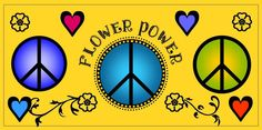 FREE Clip Art. Colorful illustrations. Peace, Flower Power. Hearts, Love. Go to My ClipArt Cafe to see more fun, art for scrapbooking, personal greeting cards, etc.