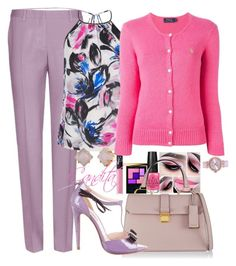 """""""Pretty in Lilac"""" by stylebycandita ❤ liked on Polyvore featuring Miu Miu, Warehouse, OPI, NARS Cosmetics, Yves Saint Laurent, Polo Ralph Lauren, Ted Baker and Stella & Dot"""