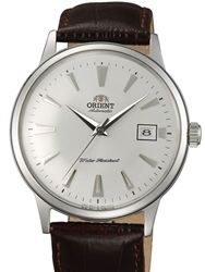 Orient 2nd Generation Bambino Automatic Watch with White Dial, Stainless Steel Case and Hour Markers #AC00005W