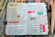 Foxy Fix Traveler's Notebook and Inserts Plus a Journal Layout - Do Your Best #traveler'snotebook #foxyfix #journal
