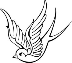Tattoo stickers - Tattoo stickers You are in the right place about tattoo sketches Here we offer yo - Tattoo Designs, Tattoo Design Drawings, Bird Drawings, Tattoo Sketches, Swallow Tattoo Design, Mom Tattoos, Future Tattoos, Body Art Tattoos, Small Tattoos